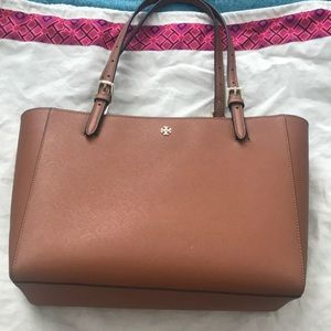 Cognac Tory burch Small York tote with dust bag